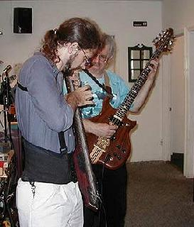 Cliff and Stuart play at Peaberry´s Coffeehouse, 1998 or 1999